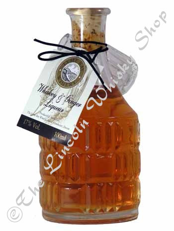 Whisky & Ginger Liqueur 10cl Mini Decanter/ Lyme Bay