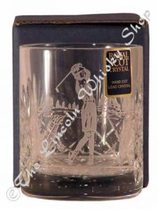 4oz Lady Golfer Double Tot Glass
