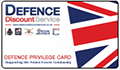 We accept Defence Discount Service cards